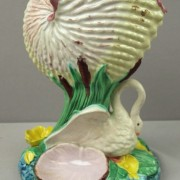 Nautilus shell and swan sweetmeat server