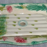 Asparagus and artichoke server with strainer insert