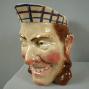English man face jug
