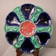 Victoria pottery oyster plate