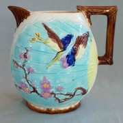 Bird and Fan water pitcher