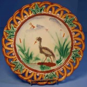 Heron in marsh dessert plate