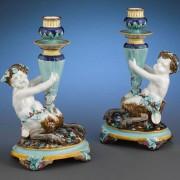 Wedgwood satyr candlesticks