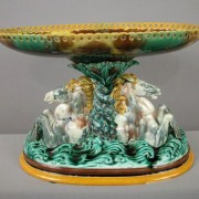 Wedgwood seahorses table center