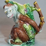 Monkey and banana leaf pitcher