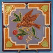 Minton & Hollins bird tile