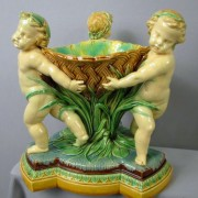 Putti and basket table center
