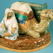 Camel and Bedouin vase