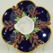 George Jones cobalt shell oyster plate