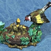 Bird and nest inkwell