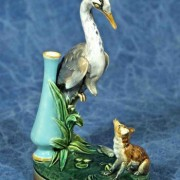 Heron and fox menu holder