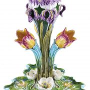 Tulip and iris table center